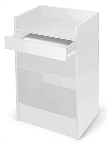 Solid White Register Stand