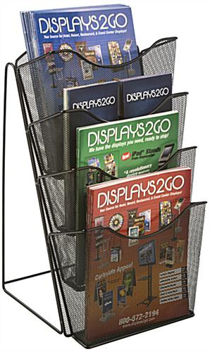 Mesh Counter Magazine Rack w/ Seperators