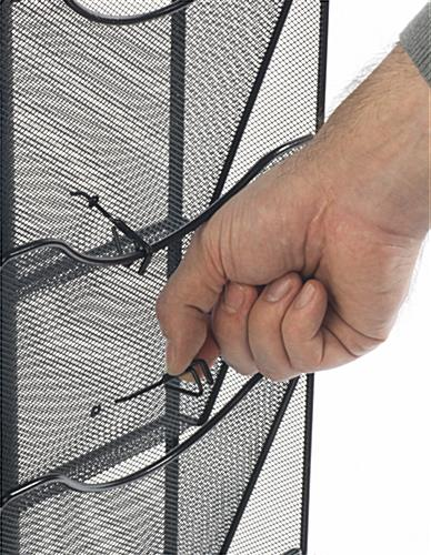 Spinning Mesh Magazine Rack w/ Pocket Dividers