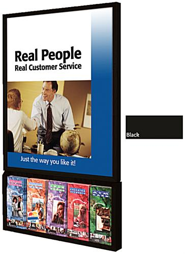 22x28 Poster Frames with Brochure Pockets : Wall Mounted