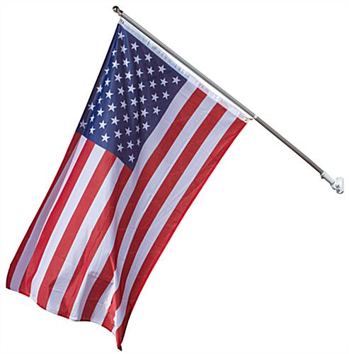 Usa Flag Mount Kit 60 Silver Aluminum Flagpole