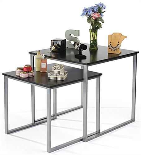Sqaure Contemporary Nesting Tables