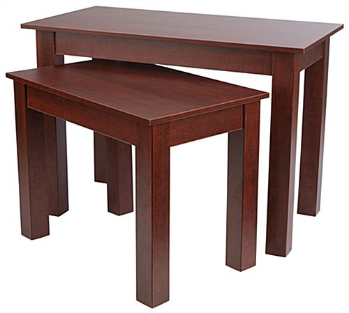 Durable Cherry Wood Nesting Tables. Cherry Nesting Table Sets   Wood Grain Finish
