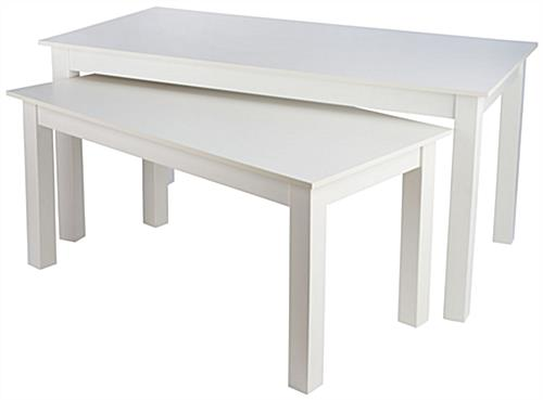 Large Nesting Table with Melamine Finish