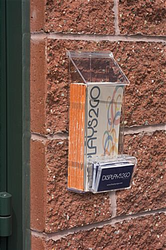 Outdoor Literature Holder W Card Box Clear Acrylic Wall Mount