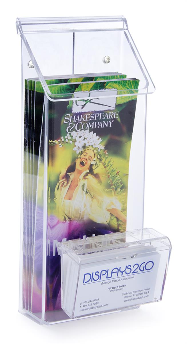 Outdoor flyer dispenser multi pocket clear acrylic for Flyer and business card holder