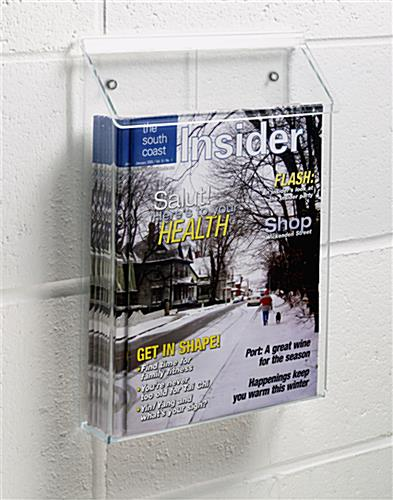 Outdoor literature display with clear build