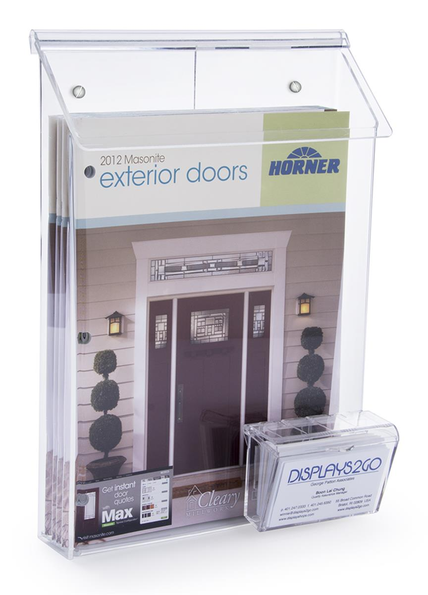 Wall Mounted Outdoor Literature Box Overlapping Lid