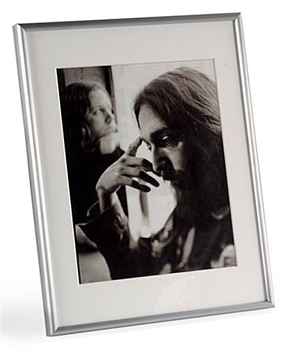 Silver Picture Frame White Mat Board
