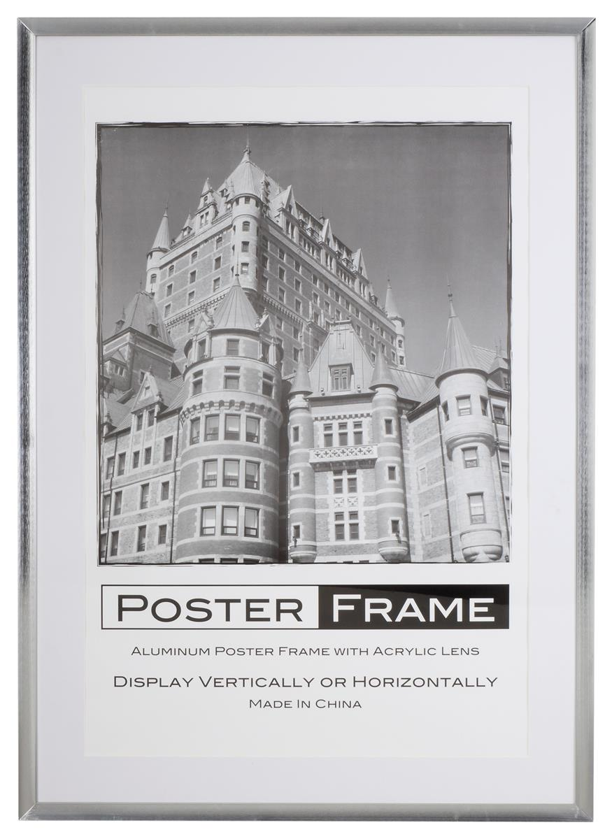 Poster Picture Frame : Metal Profile with Silver Finish
