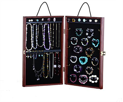 this jewelry travel display case holds rings earring. Black Bedroom Furniture Sets. Home Design Ideas