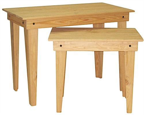Oak Nesting Tables with Pine Wood Construction