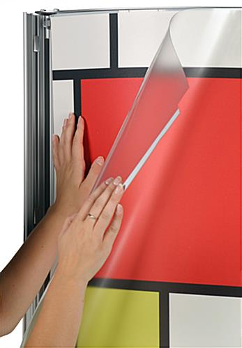 this commercial poster frame stand is great for displaying