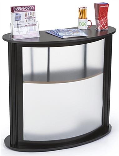 Modular Trade Show Counter with 2 PVC Lenses