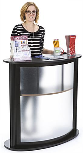 Modular Trade Show Counter, Black