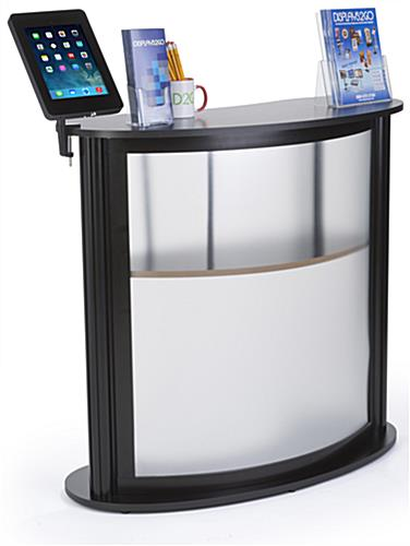 Exhibition Stand Carry Cases : Trade show counter with ipad display clamp on holder