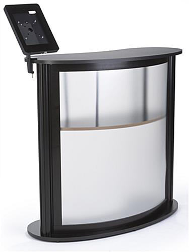 Portable Trade Show Counter With Tablet Clamp