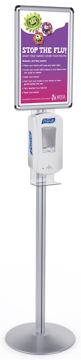 Hand sanitizing stand touch free dispensing - Porta poster amazon ...