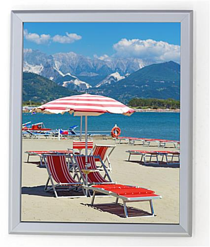 Silver 16 x 20 Snap Frame with Hinged Design