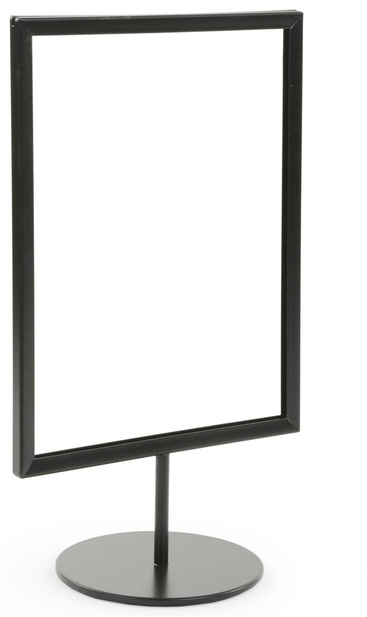 Metal Screen Signage : Metal tabletop sign holder double sided graphics display