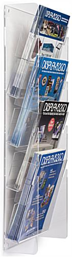 Clear Plastic Magazine Rack