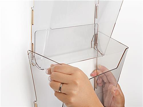 Hanging Magazine Organizer with Side Tabs for Installation