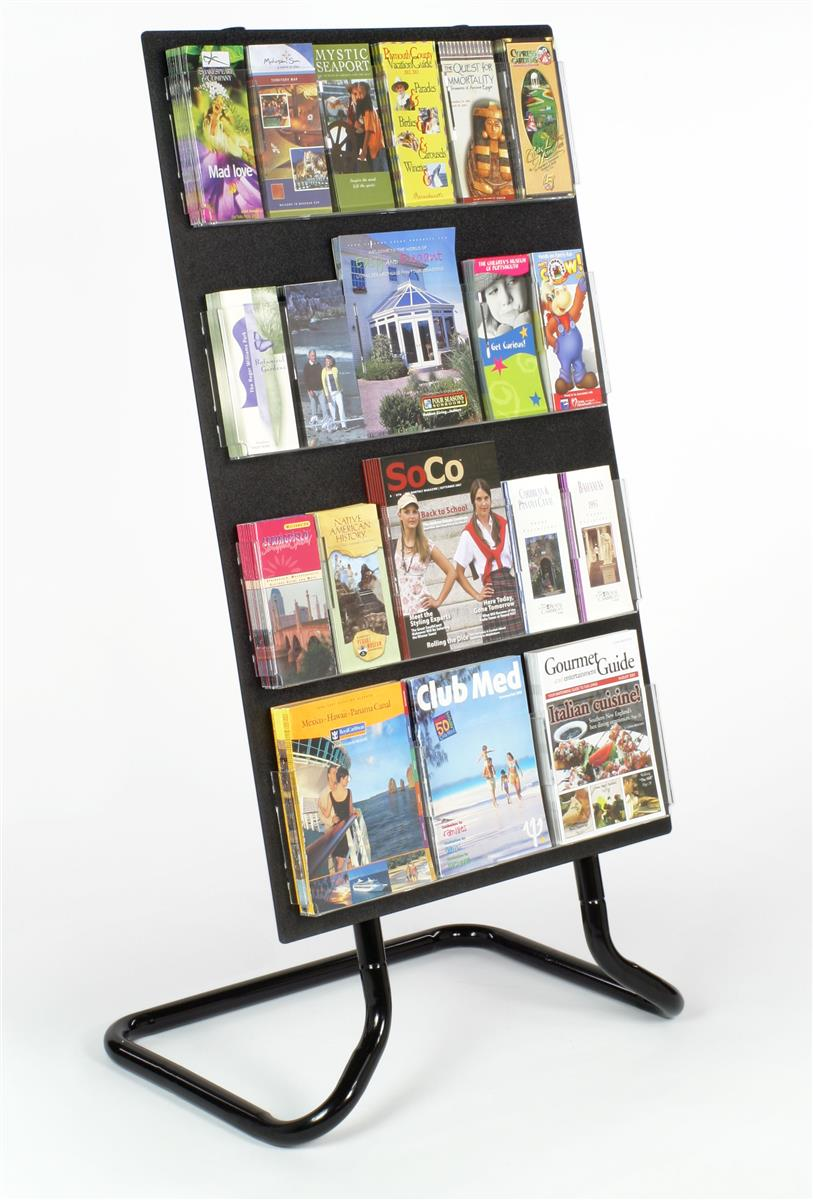 Flyer stands literature displays for magazines and pamphlets for Plastic flyer stand