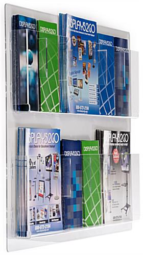 Wall Mounted Magazine Racks Hold Various Literature Sizes