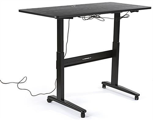 Black Electric Sit Stand Desk