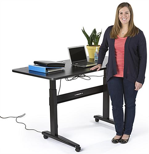"60"" x 30"" Electric Sit Stand Desk"