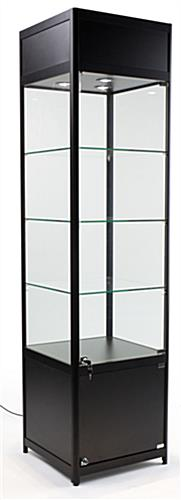 "LED Display Case Tower, 16.5"" Cabinet Height"