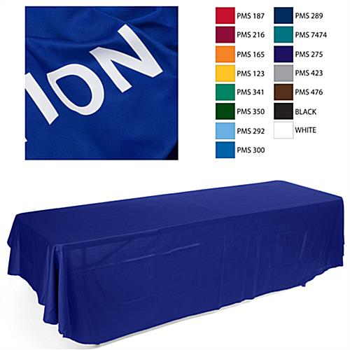 economy table drapes with custom text