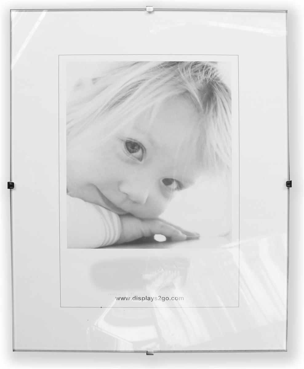 This Glass Clip Frame Can Be Wall Mounted In Vertical Or