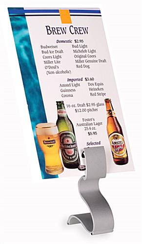 tabletop menu holder