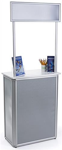 Lightweight Promotional Counter with Snap Frames