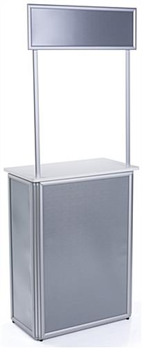 Lightweight Promotional Counter with Locking Door