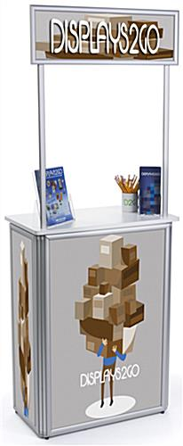 Custom Promotional Counter with Fold Up Design