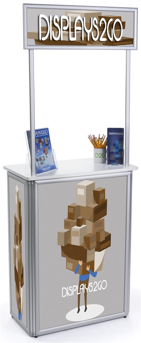 Portable Exhibition Frame : Portable promotion stand custom printing w silver framing