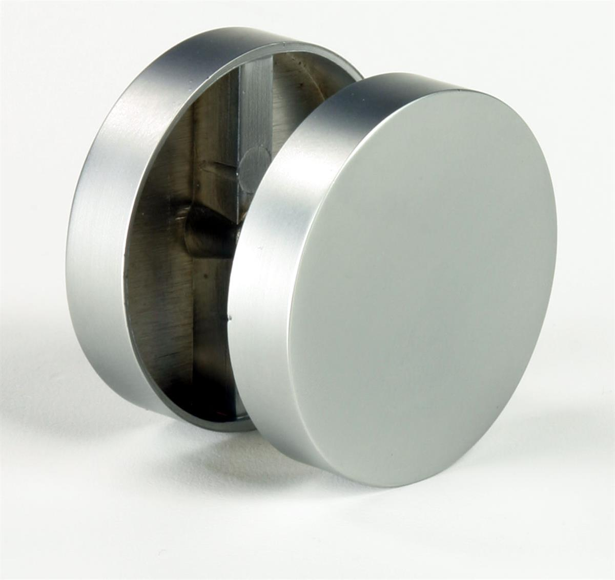 Silver Satin Standoff Caps Made Of Solid Metal
