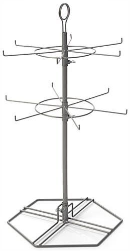 Height Adjustable Wire Spinner Rack
