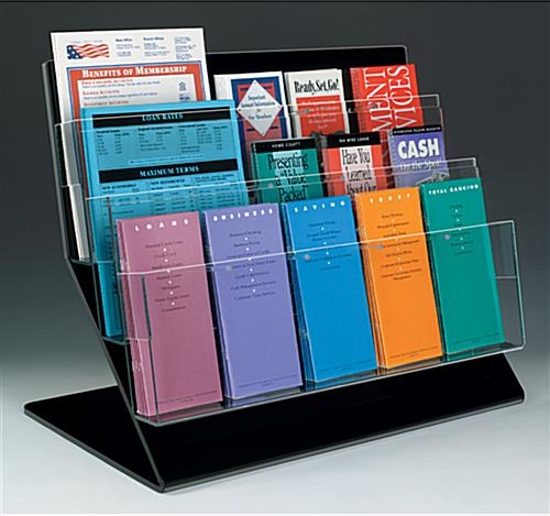 acrylic literature rack