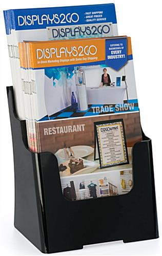 Plastic 6.5x8 Two Tier Leaflet Holder