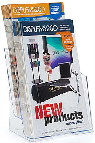 Angled 6.5x8 Clear Brochure Holder