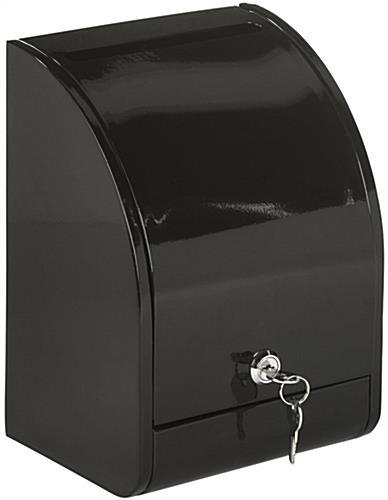 Black Drop Box with Front Door, Top Loading
