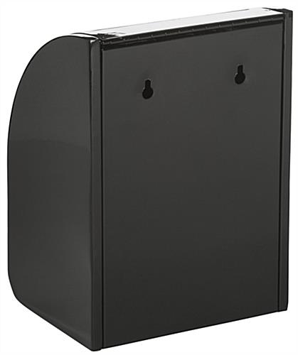 Black Drop Box with Front Door, Easy Installation