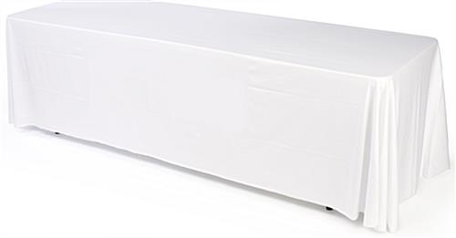 white convertible table cover