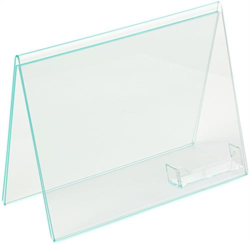 Acrylic Stand Up Frame with Business Card Holder