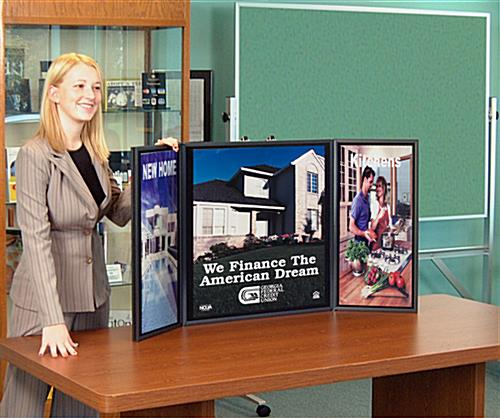 briefcase presentation display board