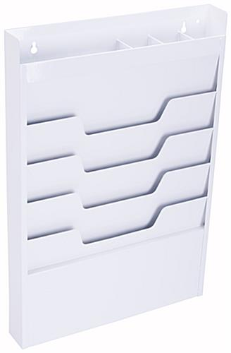 Wall Hanging File Folders steel file folder hanging display | white 4-tier wall mount