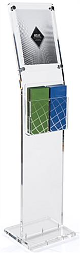 "Display Stands: (2) 4"" Wide Pockets Or (1) 8-1/2"" Wide Pockets"